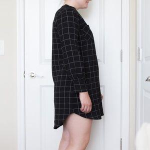 She and Sky Dresses - NWOT Black Windowpane Tunic Dress